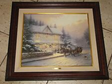 "Thomas Kinkade ""Bringing Home the Christmas Tree"" Canvas 20""x24"" 1916/2330 COA"