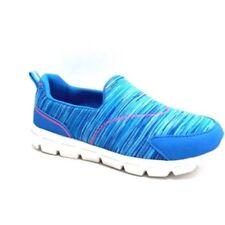 Danskin Now Girls Memory Foam Slip On Athletic Shoe Blue Size 5 NEW