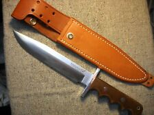 """Black Jack USA Tactical Fighter Fixed Blade Knife awesome Linen Micarta 12"""""""