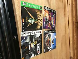 Lot of 4 PS1 Manuals Playstation 1 PS1Instruction Manual Booklet Only