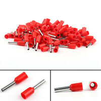 Insulated Terminal 100Pcs E1508 Cord 16AWG 1.5mm² Red US
