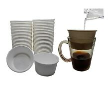 Single Serve Drip Coffee Filter Cup – Disposable, Free Size 50 count