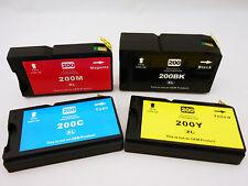 4Pk 200XL BLK & CLR Ink Cartridge for Lexmark OfficeEdge Pro5500 Pro5000 Pro4000