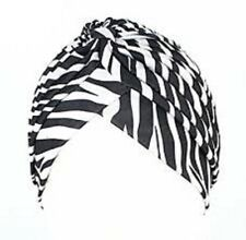 Zac`s Alter Ego Pleated ZEBRA Turbans Vintage Ideal For Hair Loss Or Fashion