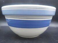 """Pfaltzgraff Rio Blue Band 9.5"""" Kitchen Mixing Nesting Bowl"""