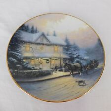Thomas Kinkade Best Tradition Old Fashioned Christmas Collector Plate No Coa