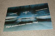 Ford Cortina Lotus Cortina GT Corsair 2000 Deluxe Brochure 1967