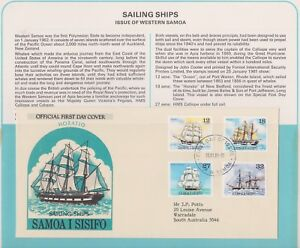 (K74-52)1982Samoa FDC sailing ships British commonwealth summerCollection&pg(BA)