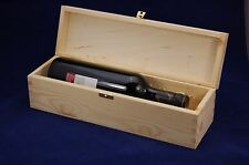 Plain Wooden Wine Box for 1 Standard 75cl Bottle Gift Decoupage Crafts