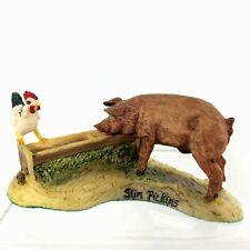 """Lowell Davis """"Slim Pickins"""" Pig Trough Chicken 2nd Edition Scotland 1993 Schmid"""