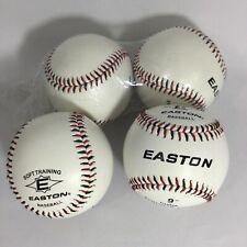 EASTON Four Baseballs Soft Training Synthetic Cover  New