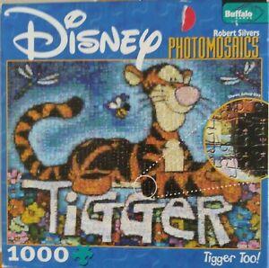"DISNEY JIGSAW PUZZLE ""TIGGER TOO?"" 1000 PIECES BUFFALO FREE US SHIPPING"