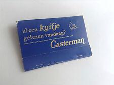 RARISSIME ancienne pochette d'allumettes Tintin Casterman TBE