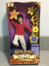 "Harry Potter WIZARD SWEETS HARRY 8"" Doll with Chocolate Frogs, Mattel, 2001, NEW"