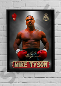 Iron Mike Tyson Signed A4/A3 Print or Framed Autograph Boxing memorabilia (#93)