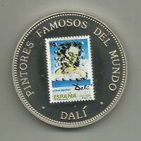 Equatorial Guinea 1000 Francos 1994, Cover-Stamp, Salvador Dali, Color