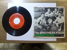 Old 45 RPM Record - Columbia 4-41571 - Brothers Four - Greenfields / Angelique-O