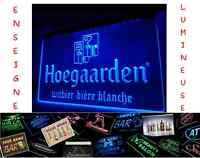 PANNEAU PUBLICITAIRE BIERE HOEGAARDEN LED ENSEIGNE BAR CAFE LUMINEUSE NEON LAMPE