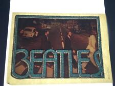 Vintage NOS The Beatles Abbey Road Iron On Transfer Glitter