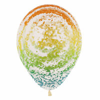 "Sempertex Rainbow Graffiti Latex Balloons 12"" Birthday Party Event Decoration"