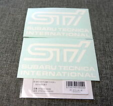 2x JDM Subaru Tecnica International STi Logo Label Genuine Sticker Decal 12x7cm