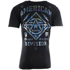 AMERICAN FIGHTER Men T-Shirt NEW MEXICO Athletic HOLOGRAM FOIL Biker Gym UFC $40