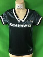 T500 NFL Seattle Seahawks Shiny Laced Up Top Women's Small