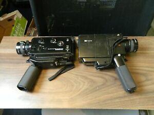 two Elmo focus free super 8 sound 230 S-XL video camera's