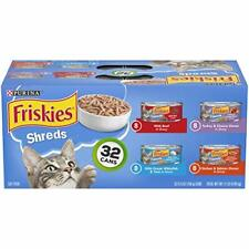 New listing Purina Friskies Canned Wet Cat Food 32 Count Variety Packs - (32) 5.5 oz Cans
