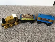 Wooden Thomas The Tank Engine Train Stepney, Fossil Car, Jewel Car, Museum Set