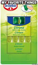 Dr Oetker Liquid Food Flavouring, Lemon/Citroen, 4 x 2ml, for baking & cakes.
