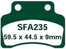 EBC Bremsbeläge SFA235 VORNE GENERIC XOR 125  (All models) 05-09