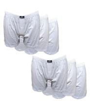 6 pezzi di boxer uomo in cotone 100% con apertura e bottone bianco disegno 6BXR_