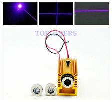Adjustable 50mW 405nm Violet/Purple Blue Laser Module Dot Line Cross w Heatsink
