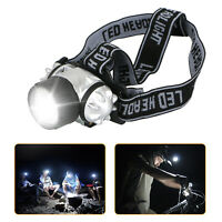 19 LED Headlamp Adjustable Strap Head Light Ultra Super Bright Water Resistant