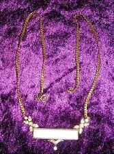prächtige elegante Halskette 46cm - Perlmutt, Glitzer Steine necklace (2)