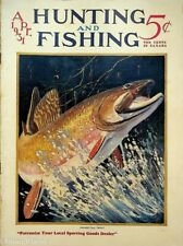 Vintage Hunting & Fishing Magazine April 1931 Great Cover Sporting