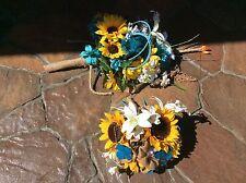 Sunflower oasis blue wedding flowers package bridal bouquet decorations 6 bouque