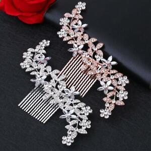 Wedding Combs Clip Crystal Hair Pin Bridal Diamante Slide Women Gifts 2021