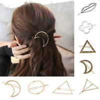 Women Geometric Hair Clips Barrettes Accessories Pins Clip Fastening P4T7