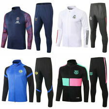 New Adult Mens Full Zipper Football Training Suit Jacket & Pants Tracksuit Set