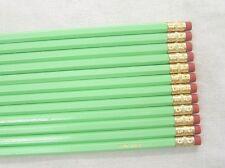 "12 Hexagon ""Pastel Green"" Personalized Pencils"