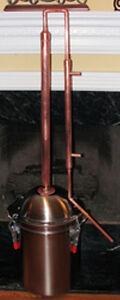 Copper Alcohol Moonshine Ethanol Still E-85 Reflux 11 Gallon Stainless Boiler