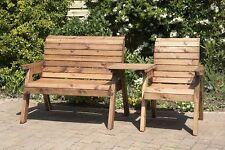 HGG 3 Seater Companion Seats - Love Seat  Garden - Tete a Tete Seats - Outdoor