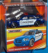 BEST OF MATCHBOX Edition Dodge Magnum Police Car Blue Rubber Tires