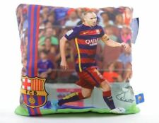 Coussin FC Barcelone Football Iniesta Avec Signature 32cm