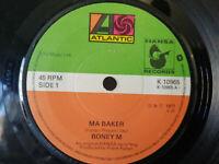 """Boney M """"Ma Baker/Still I'm Sad"""" Atlantic 1977 7"""" vinyl record Play tested"""