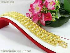 THAI GOLD BRACELET LUXURY JEWELRY WEIGHT 5 BAHT MADE IN THAILAND #SK6