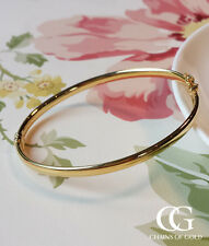 Fine 9ct Yellow Gold Ladies Oval Bangle GIFT BOXED