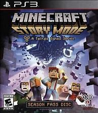 Minecraft: Story Mode -- Season Pass  (Sony PlayStation 3, 2015) Case and Disc